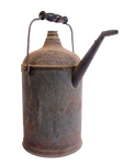 Old oil can transparent png