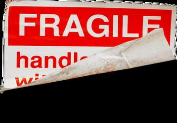 Fragile label transparent png by AbsurdWordPreferred