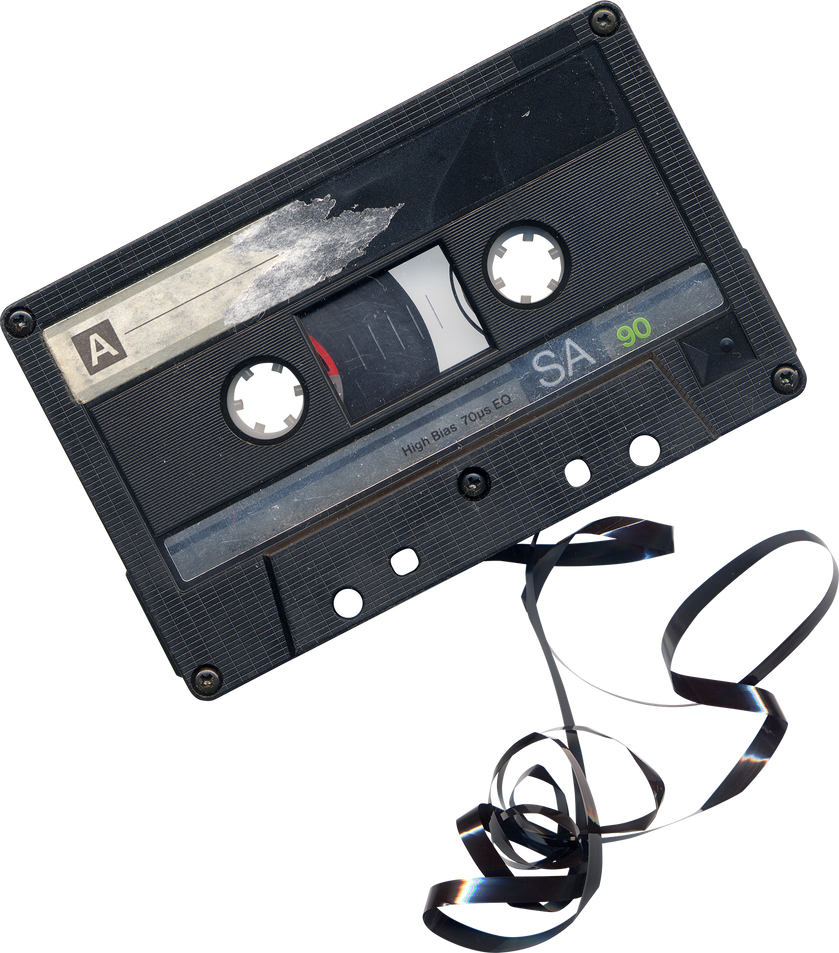 Chewed Cassette Tape png by AbsurdWordPreferred on DeviantArt