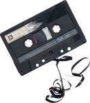 Chewed Cassette Tape png