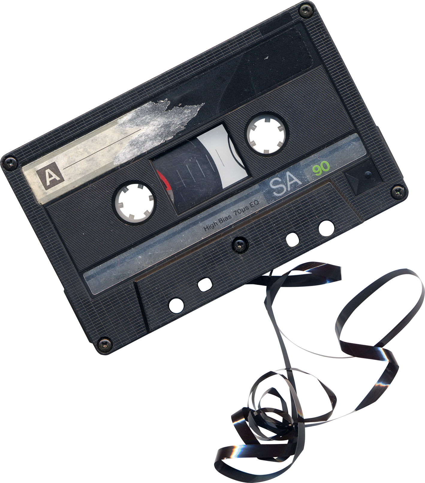 Chewed Cassette Tape png by AbsurdWordPreferred