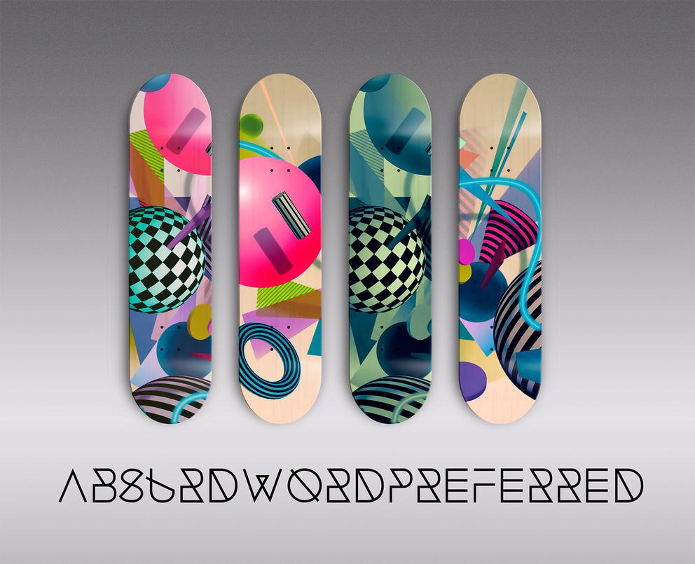 Skate Deck Artwork by AbsurdWordPreferred