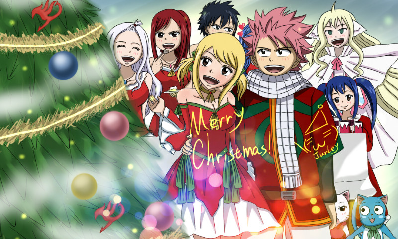 fairy tail anime christmas wallpaper - photo #1