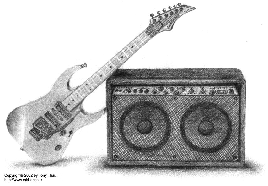 Guitar And Amp By Midiman On Deviantart