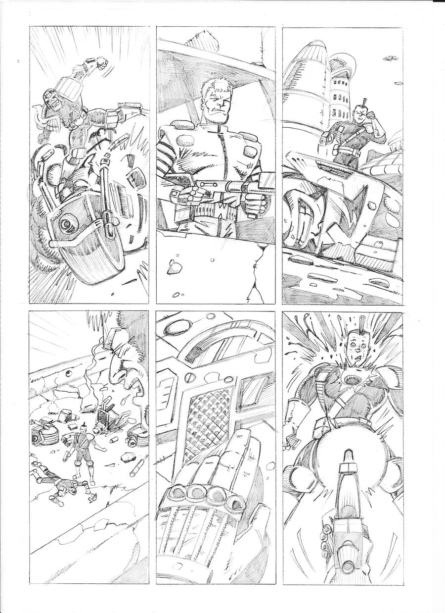 Pencilled Comic Book Art