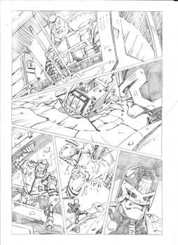 Pencilled Comic Book Art