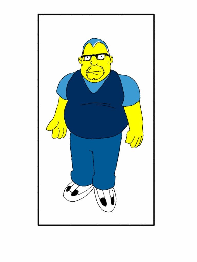 Simpson self-portrait
