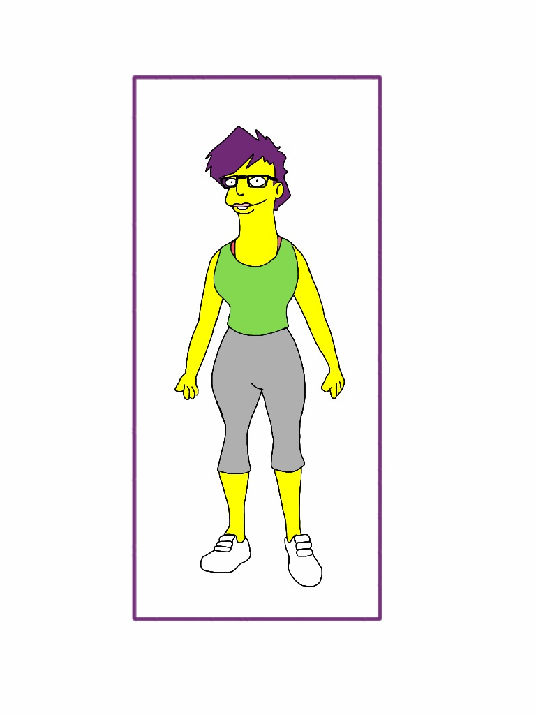 Wife as a Simpson character