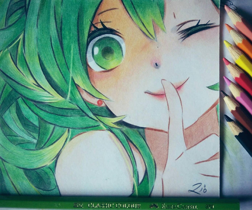 Pencil Color Drawing Cute Anime By Riotransyah07 On Deviantart