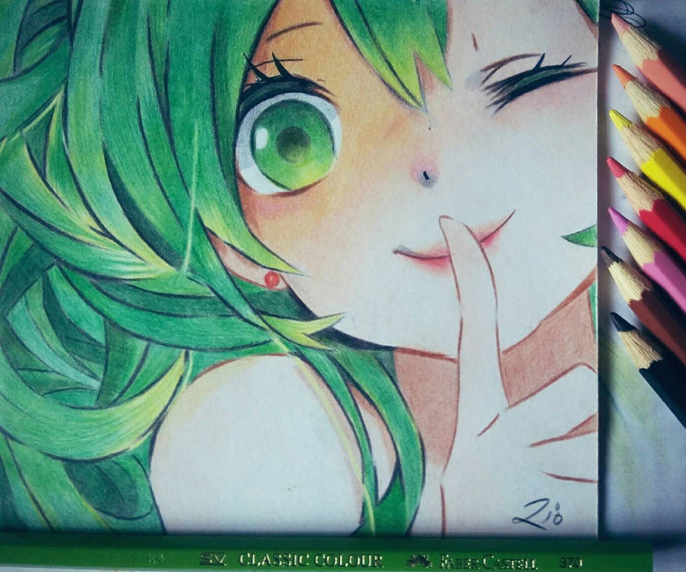Pencil color drawing cute anime by riotransyah07