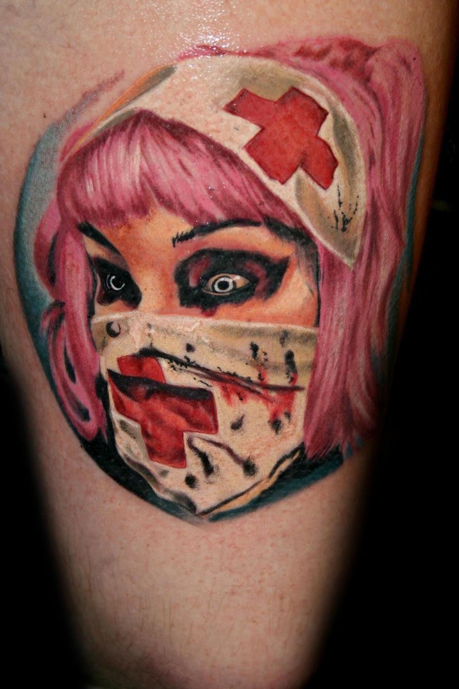 zombie nurse tattoos the image kid has it. Black Bedroom Furniture Sets. Home Design Ideas