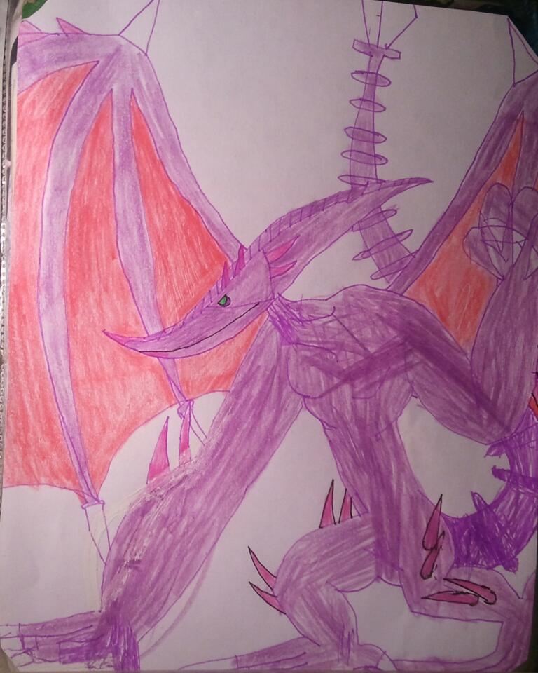 Perfect Ridley ink art (with colored pencil) by BenorianHardback26