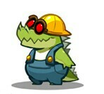 An alligator in a construction suit? by BenorianHardback26