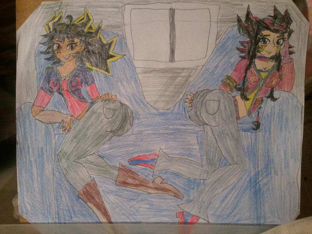 Fudo Twins on the couch (Clean Version) by BenorianHardback26