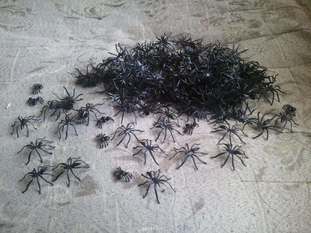 My Plastic Spider Collection by BenorianHardback26