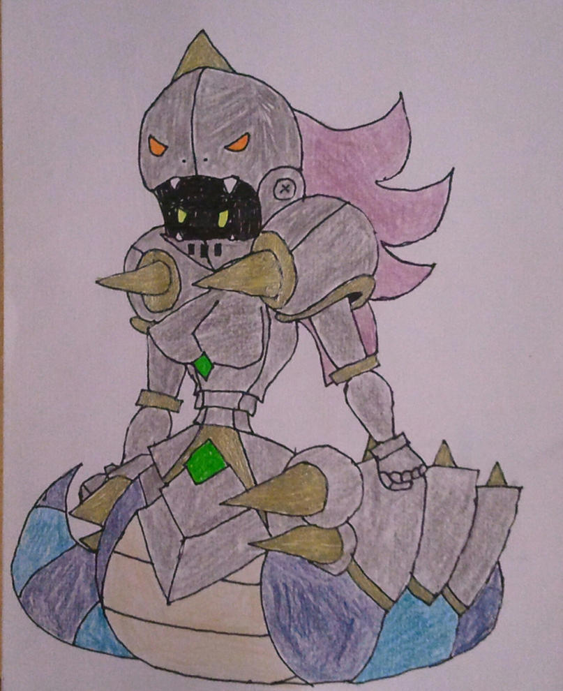 Elite Naga (Paper Mario style, First time) by BenorianHardback26