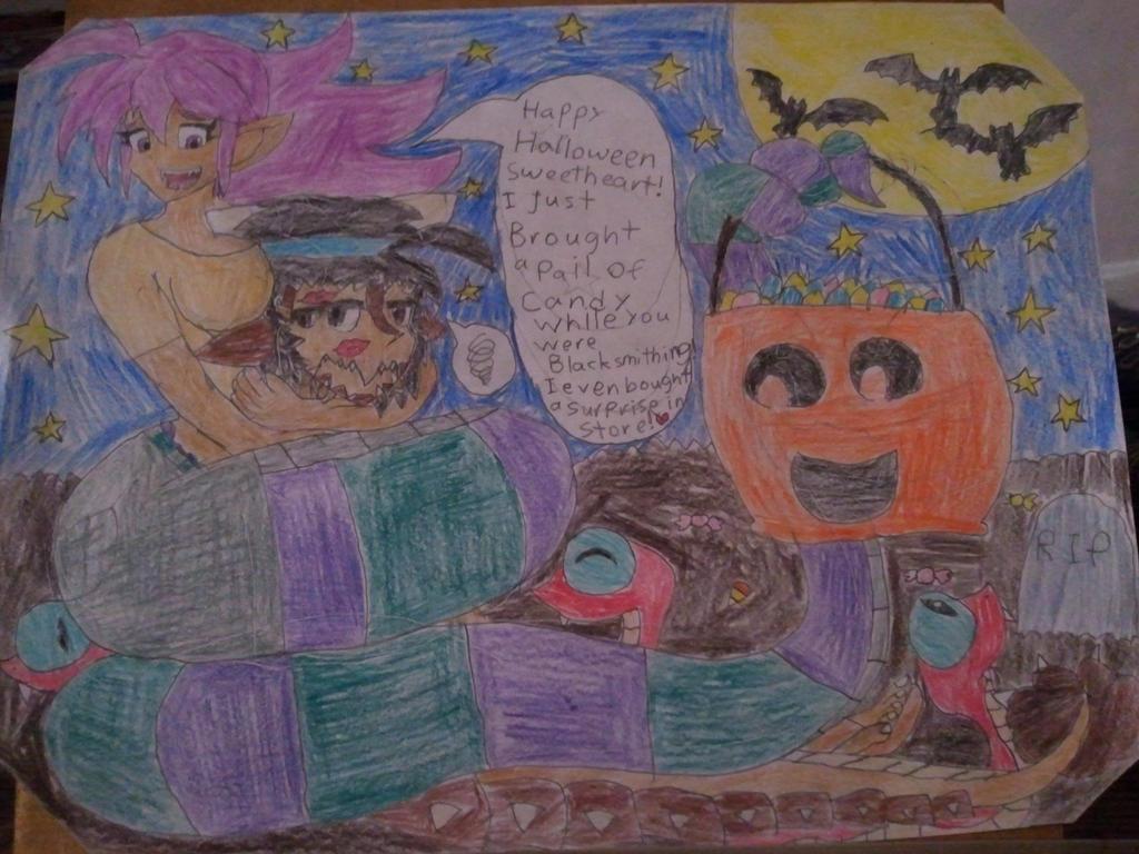 a Fang tastic Halloween Shantae crossover fanart! by BenorianHardback26