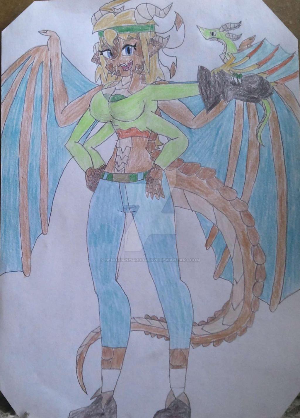 Railey Hardback (Shantae style) by BenorianHardback26
