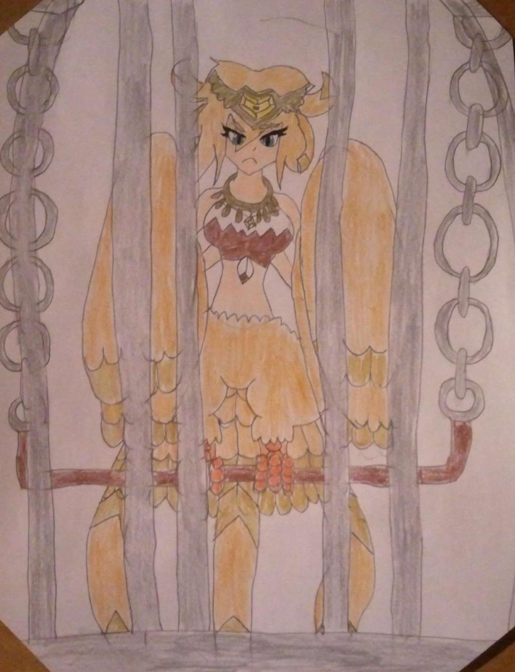 Giga Harpy (caged) by BenorianHardback26