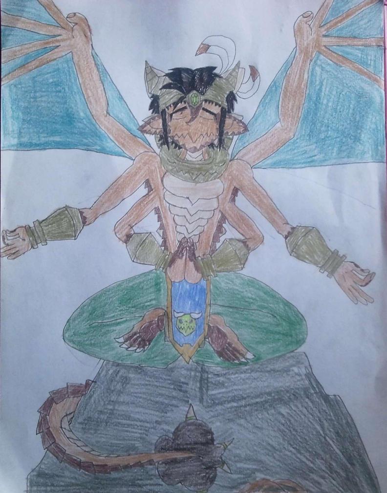 Meditating Half Djinn by BenorianHardback26