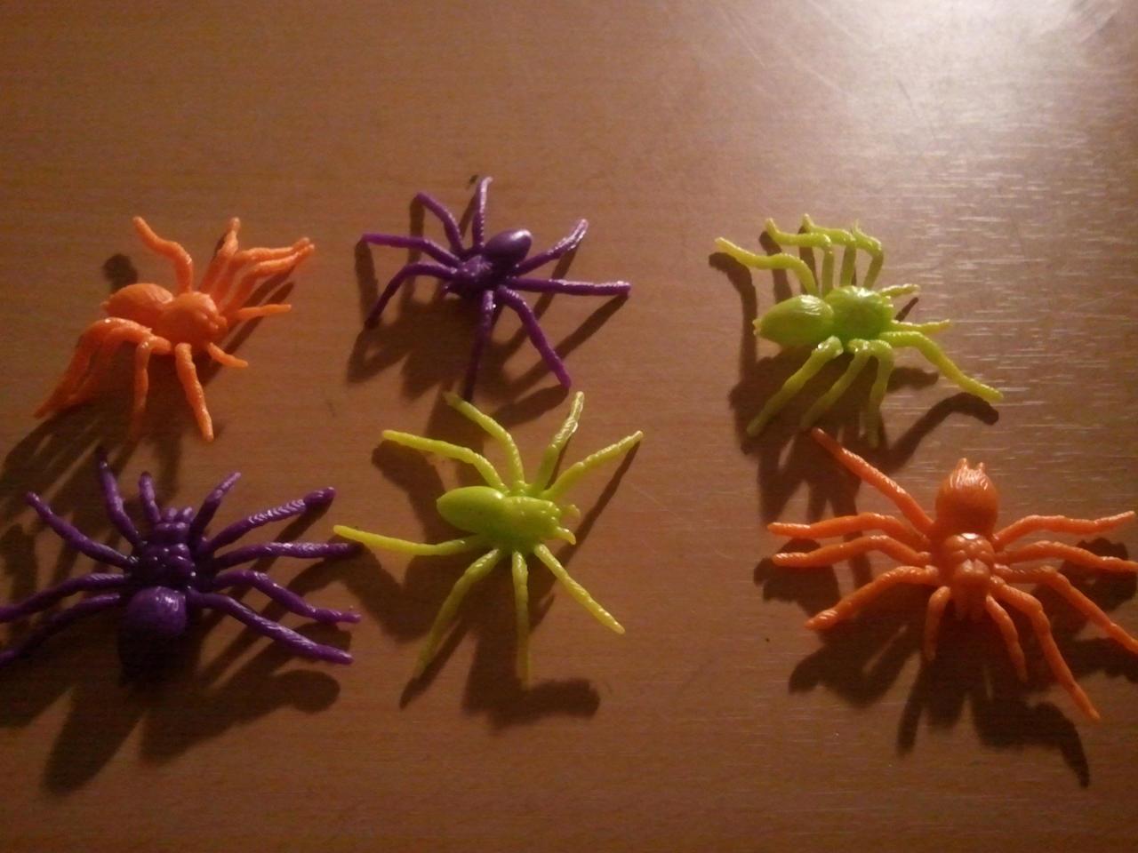 Neon Colored Spiders by BenorianHardback26