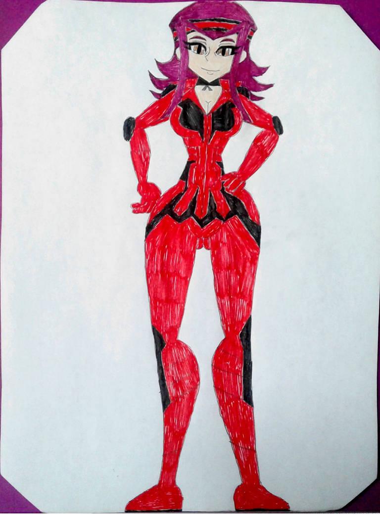 Akiza Fudo (Timeskip version, D-runner Suit) by BenorianHardback26