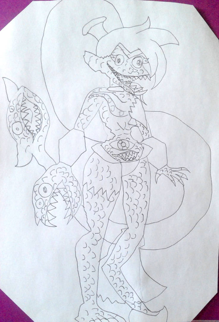 Creepy Lumpified Shantae by BenorianHardback26