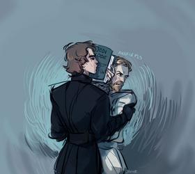 i tried to draw them kissing by javvie