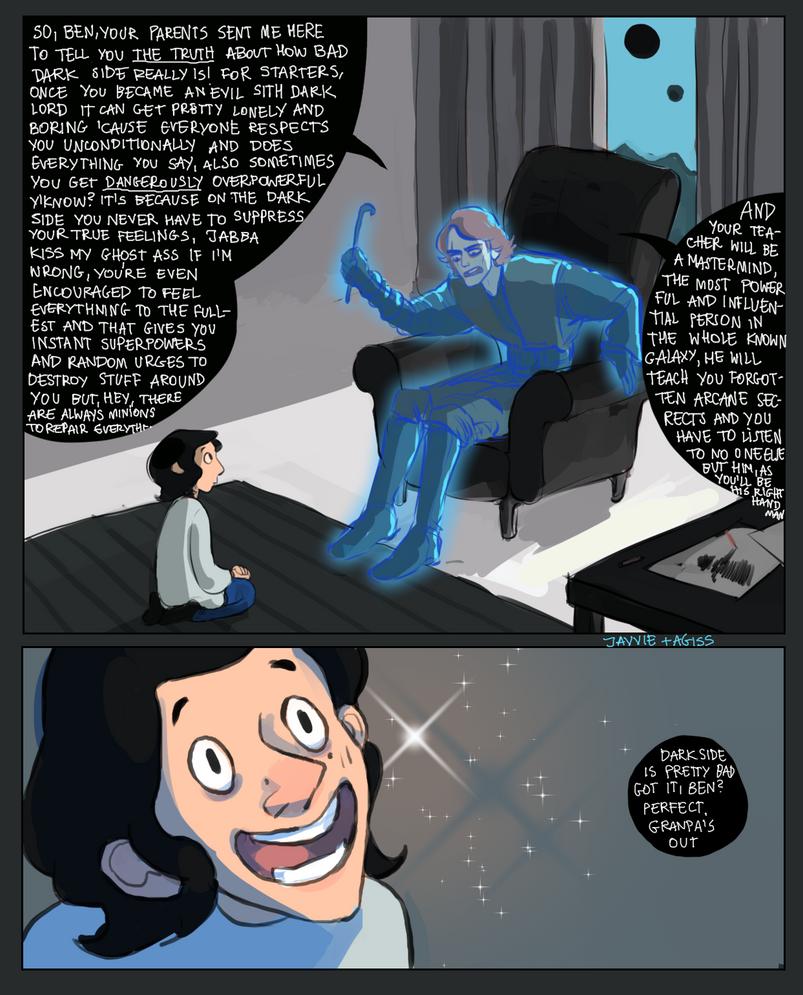 Anakin 39 s ghost visits kylo ren by javvie on deviantart - Lego star wars anakin ghost ...