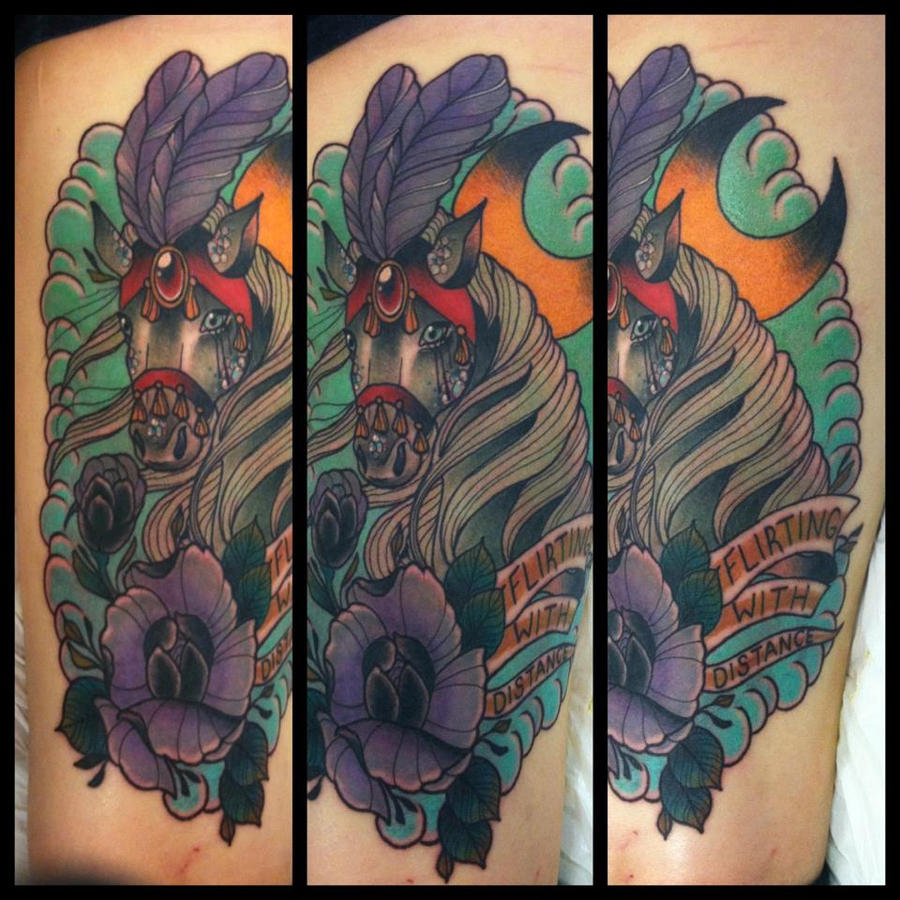 Horse tattoo by torielarson on deviantart for Horse tattoo traditional