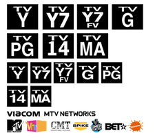 Viacom/MTV Networks TV rating designs (2001-2011) by TjsWorld2011