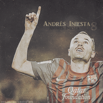 8. Iniesta by w6n3oshaq