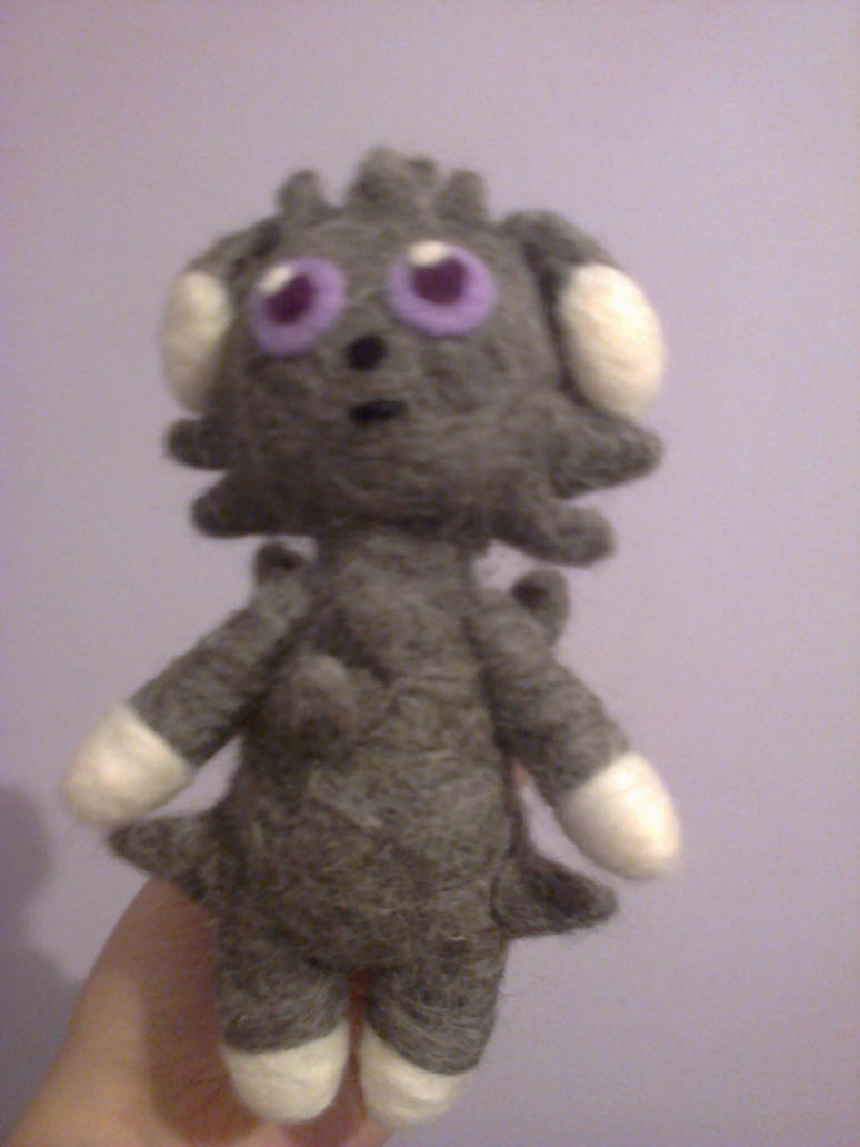 Espurr needle felted plush by beccaelric