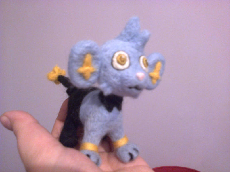 Shinx needle felted plush by beccaelric