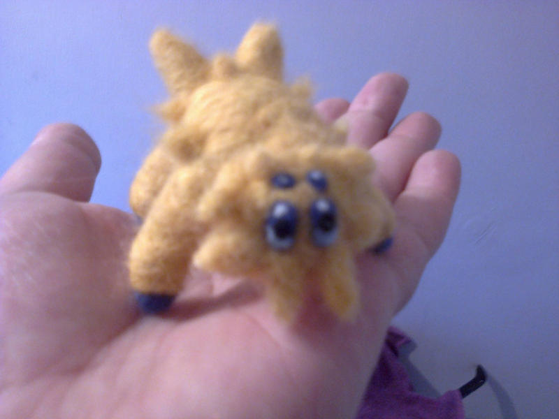Joltik needle felted plush by beccaelric