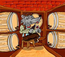 Rat In Wine Cellar