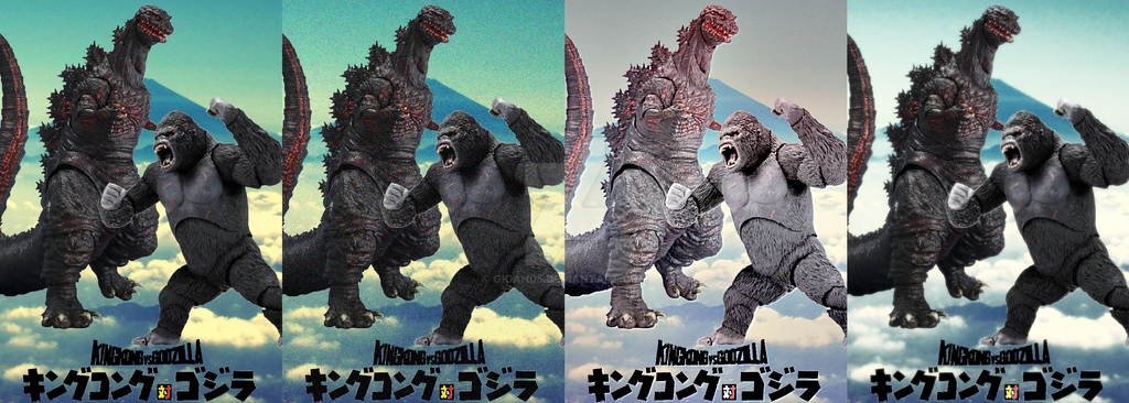 King Kong Vs Godzilla - 2016 Edition pack by GIGAN05