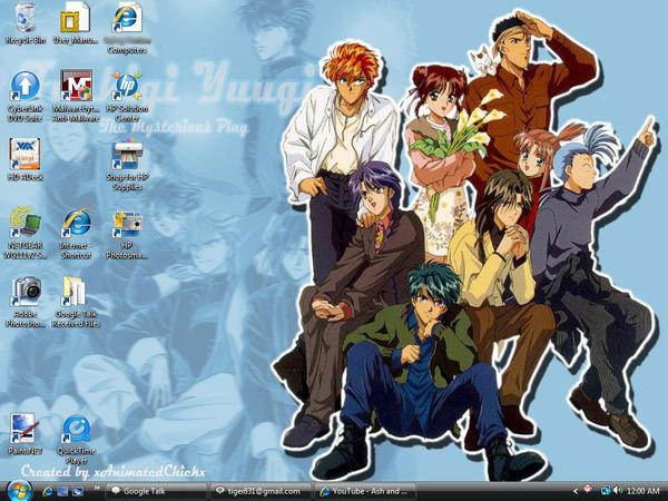 Fushigi Yuugi Desktop by TophNakamaru