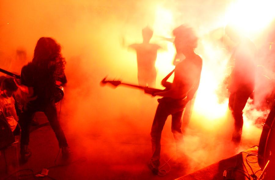 burning lights by adalahsaya