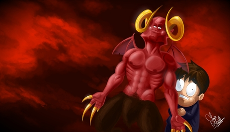 Leo and satan WP by Oney-NG