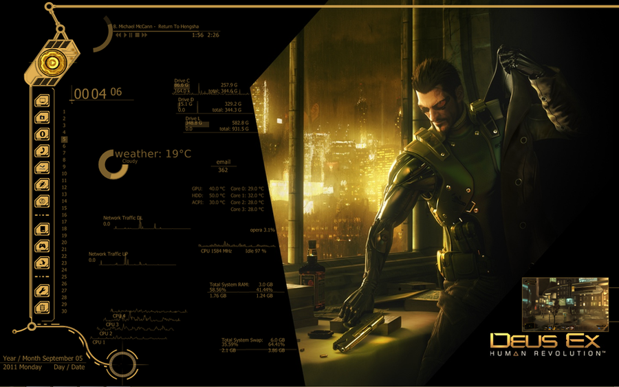 Deus Ex Human Revolution Desk by CuttyFramm