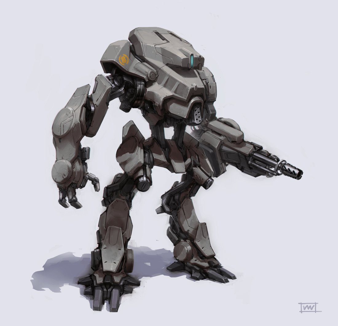 grey mech by rawwad
