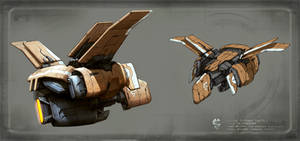 mining ship concept