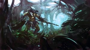 Predator in lair
