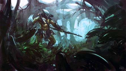 Predator in lair by rawwad