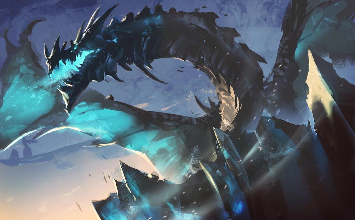 giant giant fire dragon vs ice dragon - photo #12