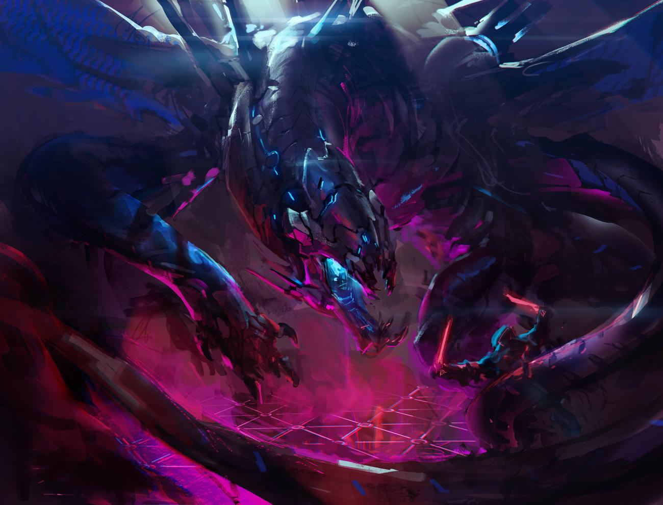 Cybernetic Dragon by rawwad