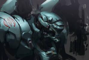 Mech, Jaeger maybe? by rawwad