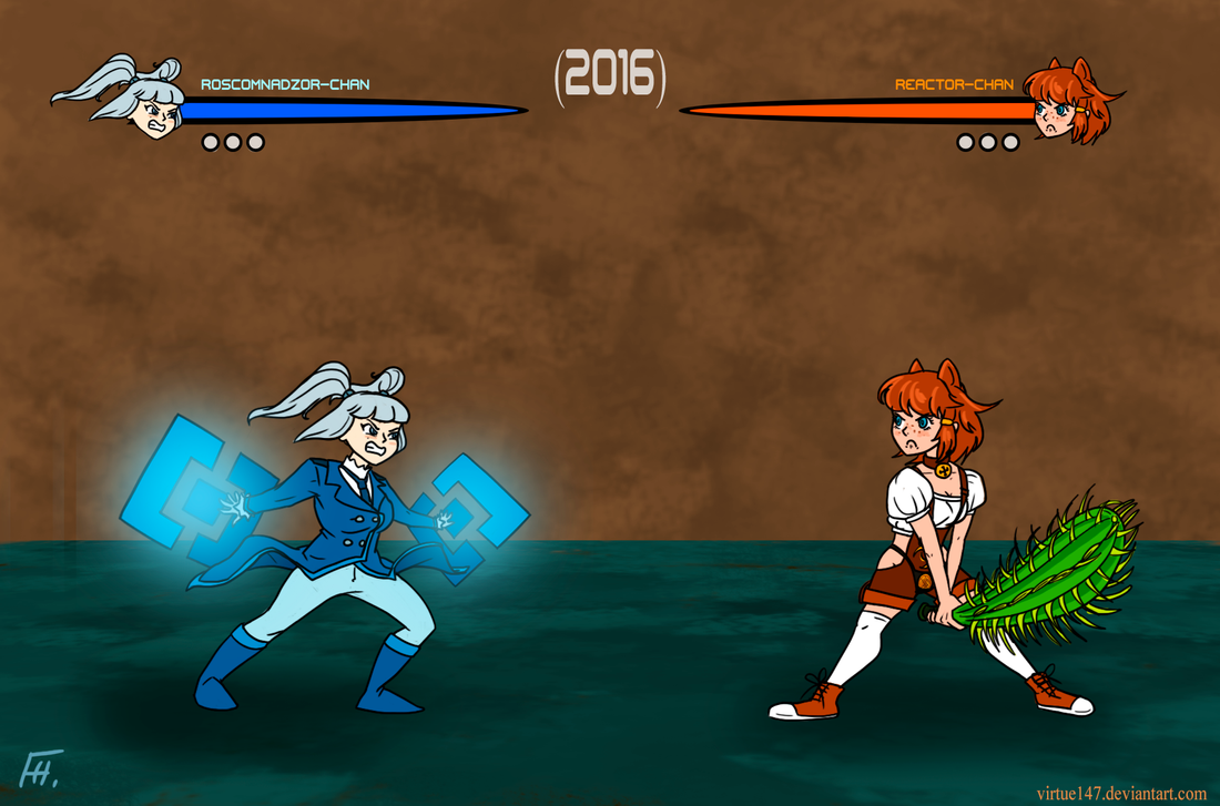 Roscomnadzor-chan vs Joyreactor-chan by Virtue147