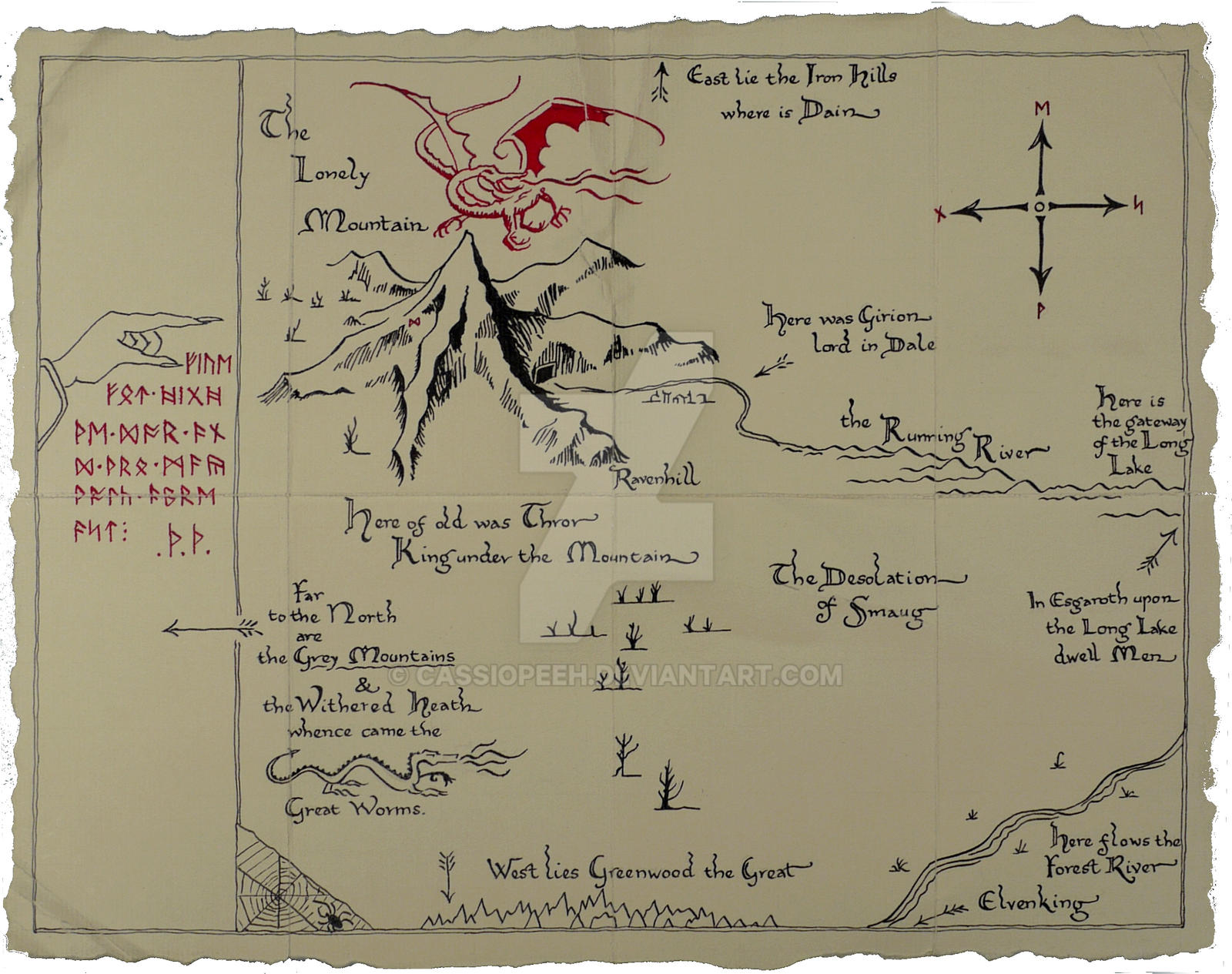Thorinu0026#39;s Map by Cassiopeeh on DeviantArt